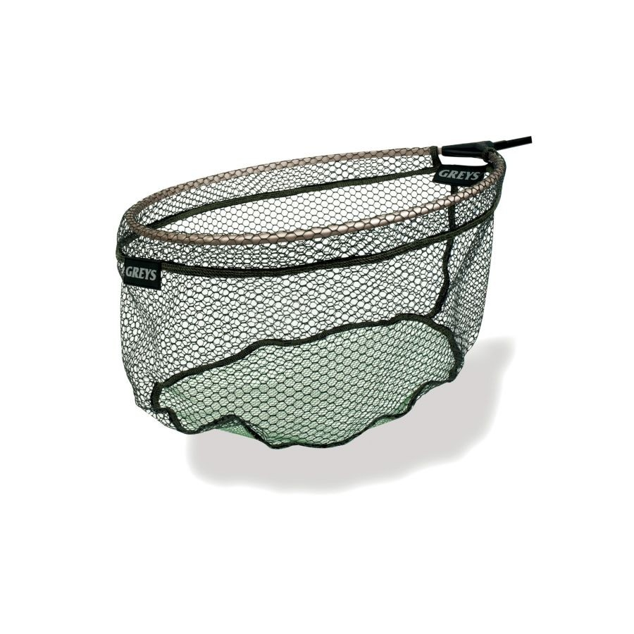 "Greys Rubber Skin Micro Mesh 16"" Spoon Net"