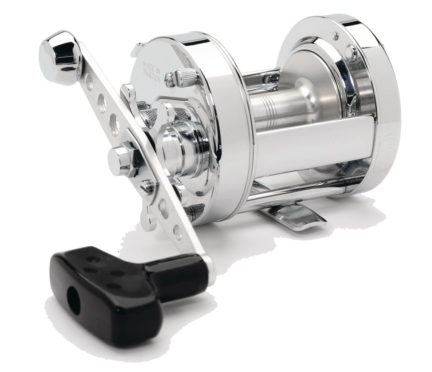 Abu Garcia Ambassadeur Chrome Rocket 6500 reel, a classic reel that is equally at home on the beach or the boat