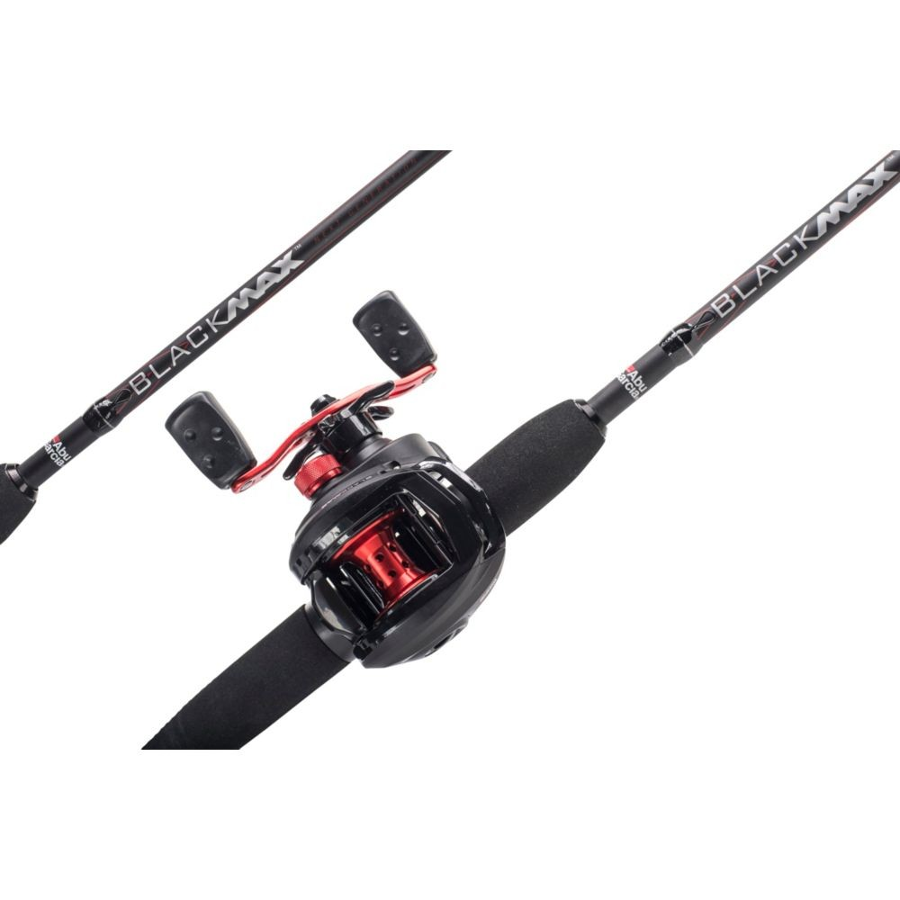 "Abu Garcia Black Max 6' 6"" Lure Rod with Black Max BaitCasting Reel"