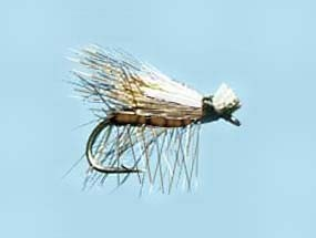 Turrall Caddis (Sedge) Elk Hair-Hi Viz Brown Size 14