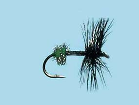Turrall Dry Hackled Black Ant - Size 14