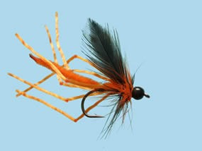 Turrall Daddy Long Legs Rubber Legs Orange Size 10