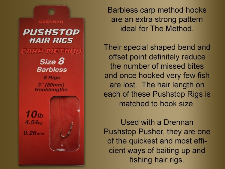 Drennan Carp Method Pushstop Hair Rigs