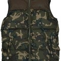 Fox Chunk Rip Stop Quilted Gilet Camo Khaki