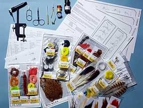 turrall popular fly tying kit with tools