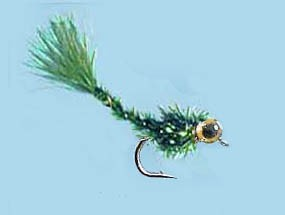 Turrall Heavy Detatched Body Nymph Damsel Olive Size 12