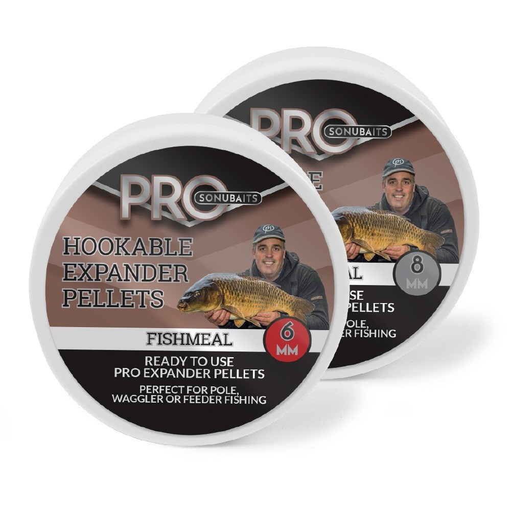 Sonubait Pro Hookable Expander Pellets Fishmeal 6mm