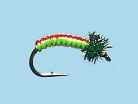 Turrall Juicy Grub Red Lime Size 12