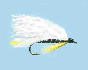 Turrall Streamer / Lure Black Ghost Marabou - Size 8