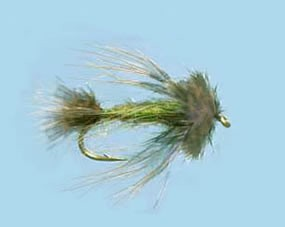 Turrall Streamer/Lure Sparrow Olive - Size 8