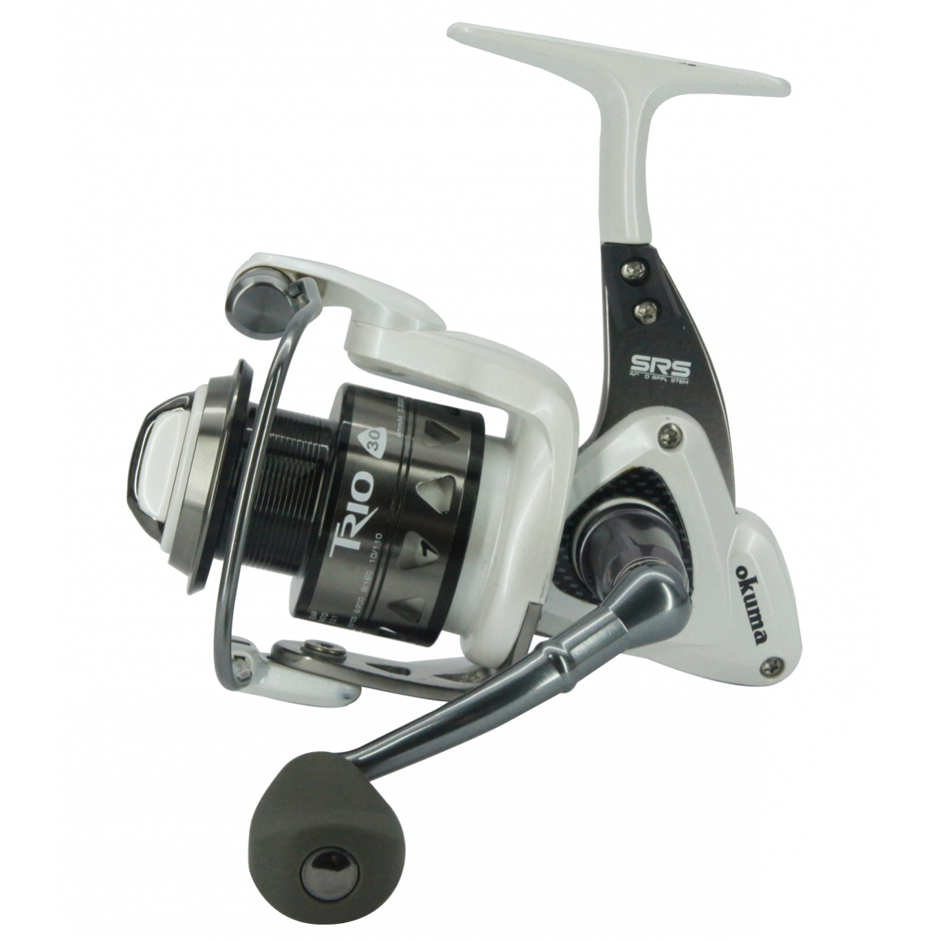 >If you are looking for a saltwater spinning reel then the Okuma Trio White TW-40 fits the bill, with 10 bearings, machine cut brass gears & aluminium spool