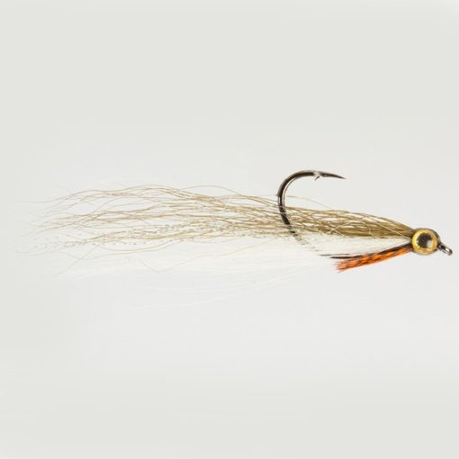 Dom Garnett Drop Shot Minnow olive and White Size 2