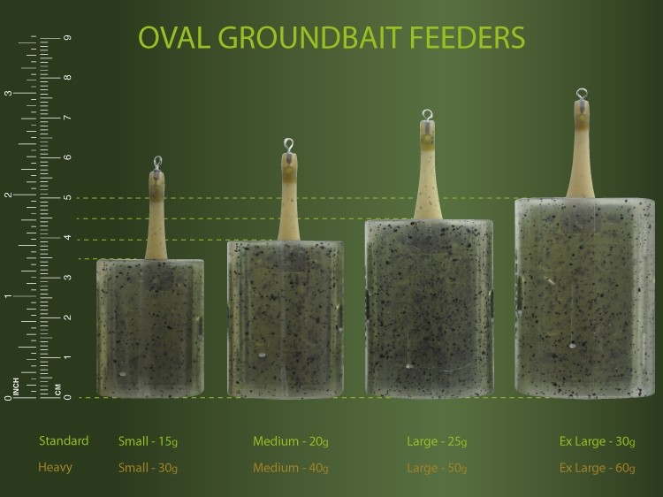 oval groundbait feeder