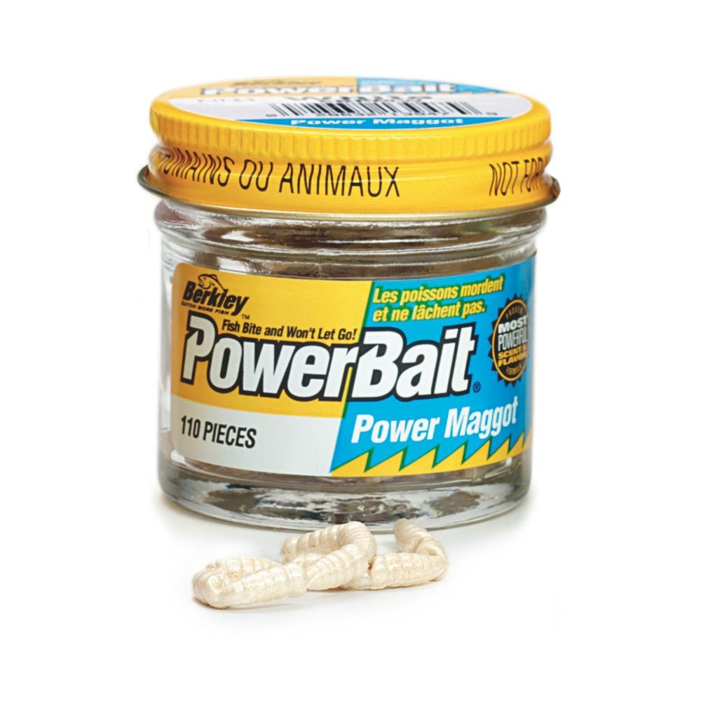 Berkley Powerbait Power Maggots in White