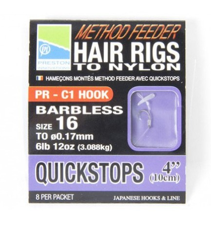 method hair rig with quickstop