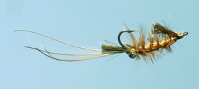 Turrall Jims Golden Eye Shrimp Saltwater Fly Size 6
