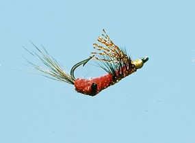 Turrall Scates Shrimp Red Saltwater Fly