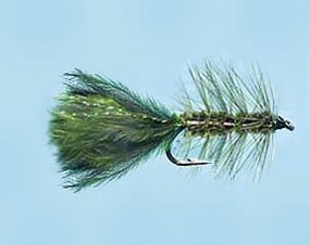 Turrall Woolly Bugger Olive - Size 10