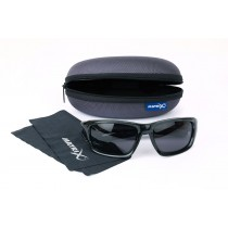 Matrix Polarised Sunglasses Trans. Black Frame - Grey Lense