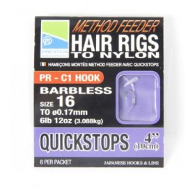 Preston Innovations Method Feeder Hair Rigs with Quickstops