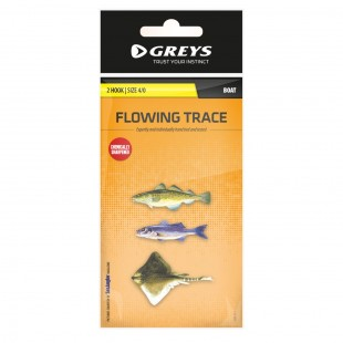 Greys Boat Flowing Trace 2 Hook Size 4/0