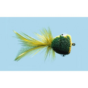Turrall Frog Green/Yellow Bass Bug Size 6