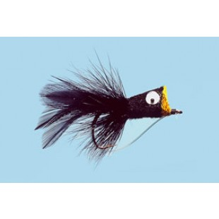 Turrall Hair Bug Black Bass Bug