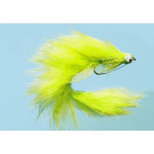 Turrall Water Pup Chartreuse Bass Bug In Size 6