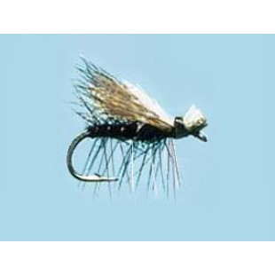 Turrall Caddis (Sedge) Elk Hair-Hi Viz Black Size 14