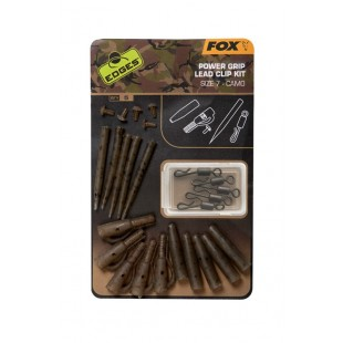 Fox Edges Power Grip Lead Clip Kit size 7 Camo