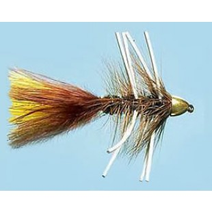 Turrall Cone Head Bugger Brown Rubber Legs Size 10