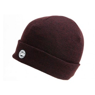 Fox Chunk Burgundy/Black Beanie