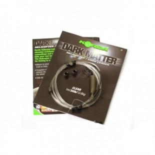 Korda Dark Matter Hybrid Lead Clip Leader in Clear