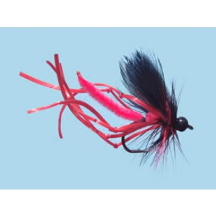 Turrall Daddy Long Legs Rubber Legs Red Size 10