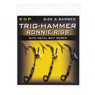Ready-made Ronnie Rigs incorporating our Trig-Hammer hooks... New improved Ronnie's including the super effective Trig-Hammers. This incredibly sharp long-shank pattern has become established as 'the' hook of choice for thousands of anglers when using the