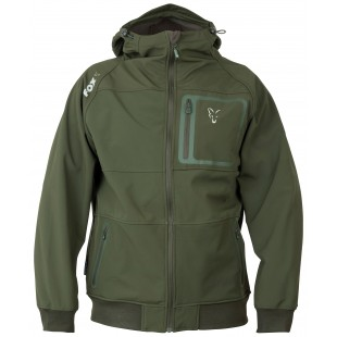 Fox Collection Soft Shell Jacket Green & Silver