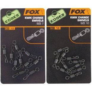 Fox Edges Kwik Change Swivels Size 10