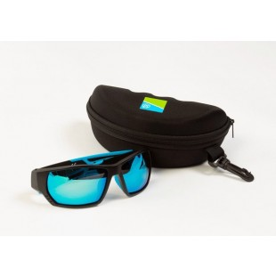 Preston Polarised Sunglasses Floater - Blue Lens