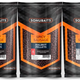 Sonubait Halibut Pellets Spicy Sausage