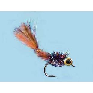 Turrall Heavy Detatched Body Nymph Damsel Fiery Brown Size 12