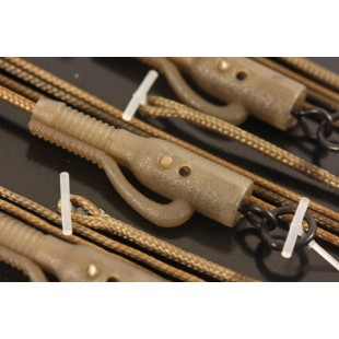 Korda Kable Leadcore Leaders 3 x Hybrid Lead Clip in Gravel Brown