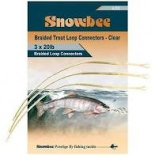 Snowbee Braided Trout Loop Connector Clear