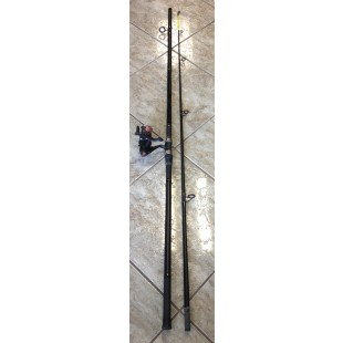 Ron Thompson Master 12ft Beach Rod with Master Beach 65 Reel - Rod stand -weight and rigs