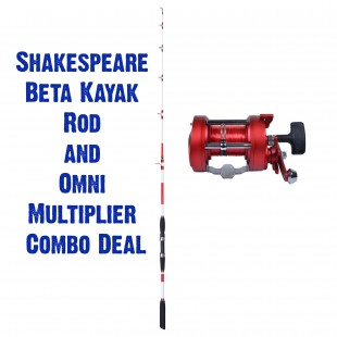 Shakespeare Omni 5ft 3' Kayak Rod with Omni 20lb Multiplier Combo Deal