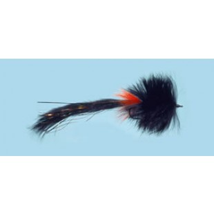 Turrall Pike Fly Bunny Black Size 1/0