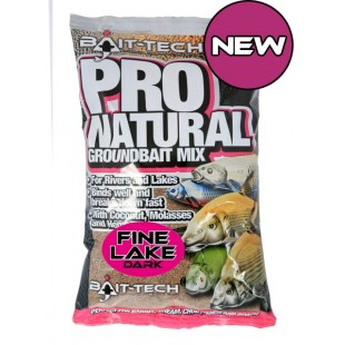 Bait Tech Pro Natural Groundbait Mix Fine Lake Dark
