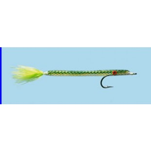 Turrall Needlefish Chartreuse Premium Saltwater Fly Size 1/0