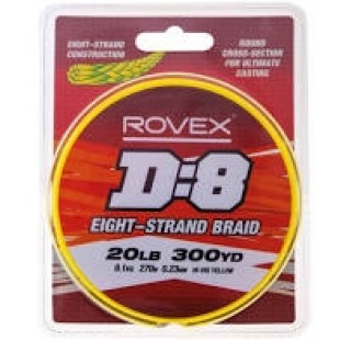Rovex D:8 Eight strand braid 20lb/9.1kg 0.23mm 300yard spool