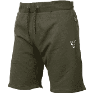 Fox Collection Lightweight Green/Silver Jogger Shorts Size Small