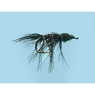 Turrall Slim-Line Nymph Black Size 12